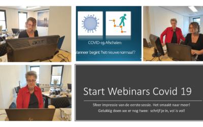 Start Webinar serie COVID-19 en de nasleep