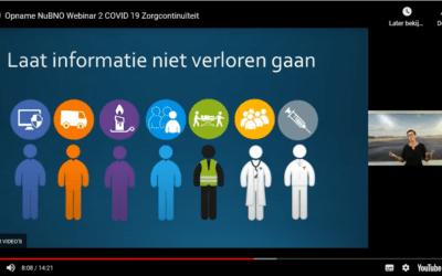Webinar serie COVID-19 en Zorgcontinuiteit